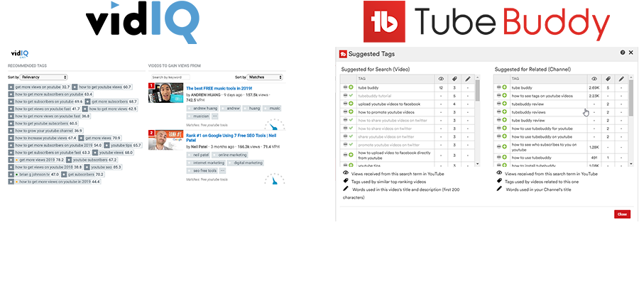 VidIQ vs TubeBuddy Tag Management
